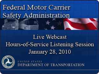 Federal motor carrier safety administration webcast for Motor carrier safety administration