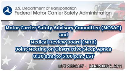 Federal motor carrier safety association fmcsa for Federal motor carrier safety