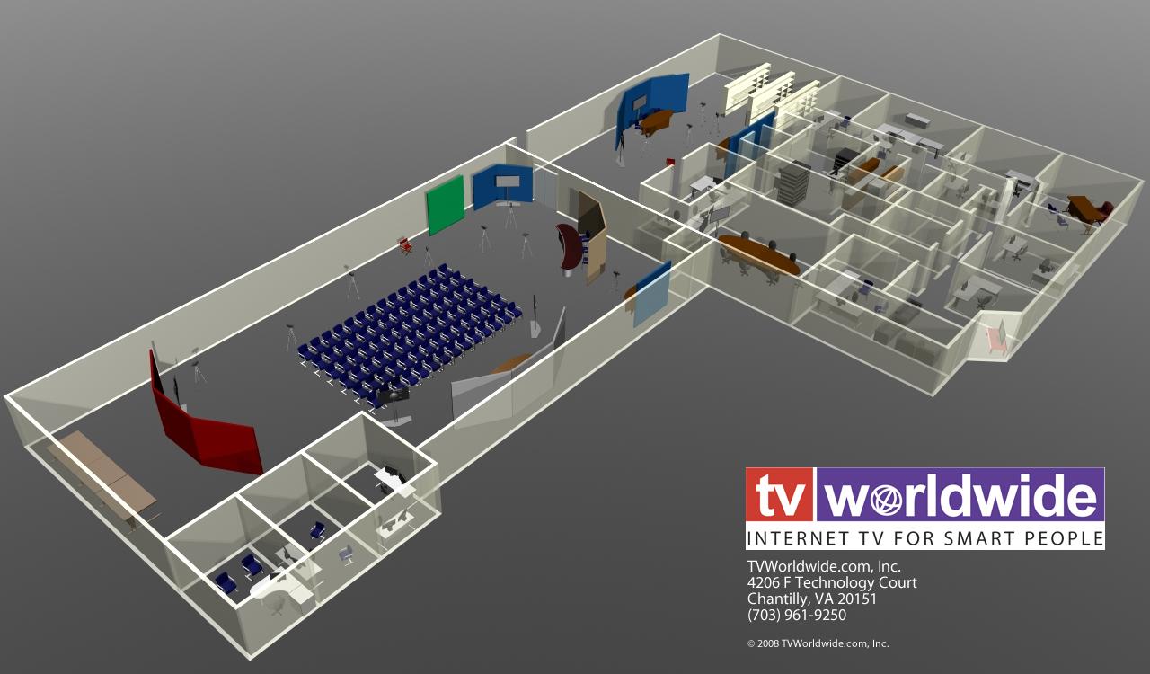 Tv worldwide to open america 39 s largest internet tv studio for Studio layout plan